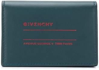 Givenchy logo printed snap bi-fold wallet