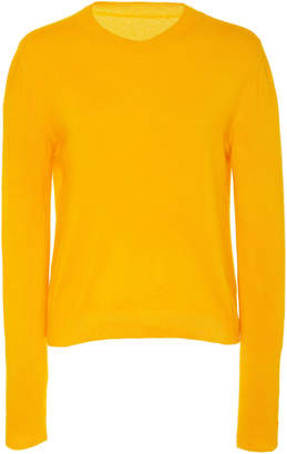 The Elder Statesman Billy Cropped Classic Cashmere Sweater