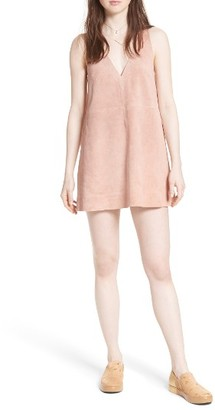 Women's Free People 'Retro Love' Suede Trapeze Minidress $168 thestylecure.com