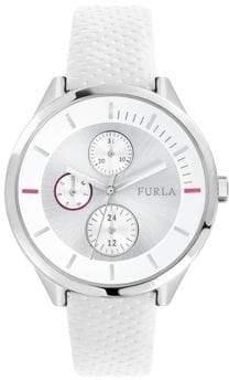 Furla Metropolis White Dial Calfskin Leather Watch