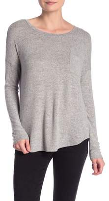 FOR THE REPUBLIC Long Sleeve Cozy Pocket Tee
