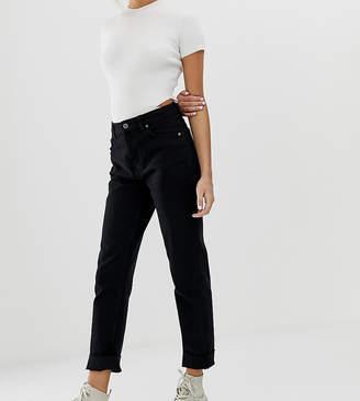 Bershka straight leg jeans in black