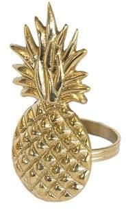 Birch Lane Pineapple Napkin Ring (Set of 6)