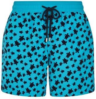 Vilebrequin Moorea Turtle Flocked Swim Shorts