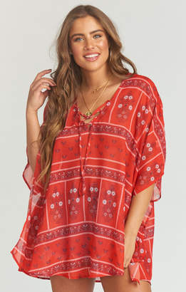 Show Me Your Mumu Peta Lace Up Tunic ~ Bandana Bandit