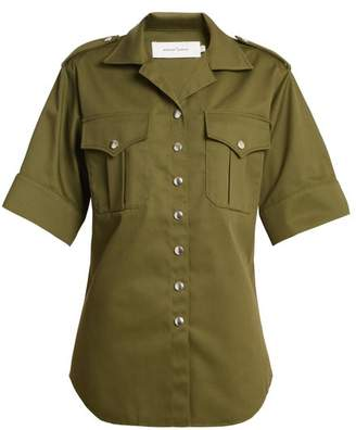Marques Almeida Marques'almeida - Safari Short Sleeved Shirt - Womens - Khaki