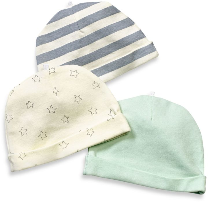 Bed Bath & Beyond Sterling Baby Size 0-6M 3-Pack Cap Set