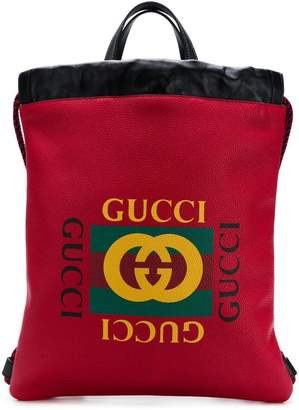 Gucci printed backpack