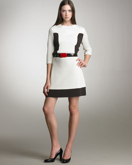 Alice + Olivia Colorblock Dress