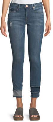 True Religion Jennie Curvy Skinny-Leg Jeans with Hem Detail