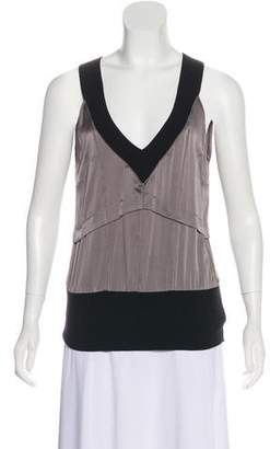 CNC Costume National Silk Sleeveless Top