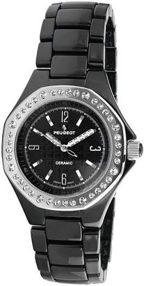 Peugeot Women's Swiss Ceramic Swarovski CrystalAccent Watch