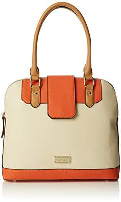 Henley Womens Christy Top-Handle Bag Orange/Camel