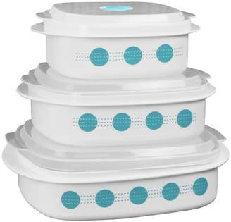 Corelle South Beach Microwave Cookware 3-Container Food Storage Set