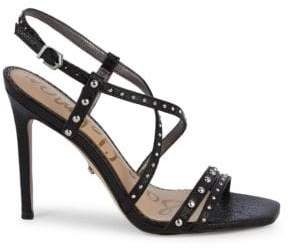 68c4486e8 Sam Edelman Lennox Studded Leather Slingback Heeled Sandals