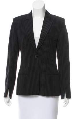 Rene Lezard Pinstriped Peak-Lapel Blazer