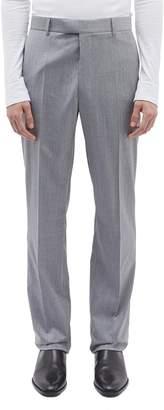 Calvin Klein Stripe outseam wool twill pants
