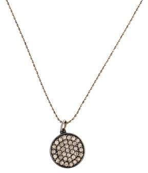 Sydney Evan 14K Diamond Disc Pendant Necklace