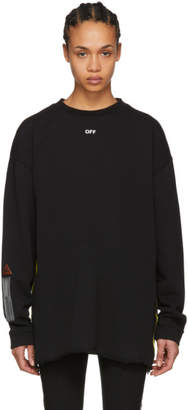 Off-White Off White Black Logo Tape Sweatshirt
