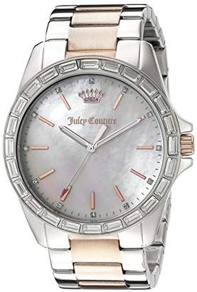 Juicy Couture Women's 1901296 Analog Display Quartz Two Tone Watch $125 thestylecure.com