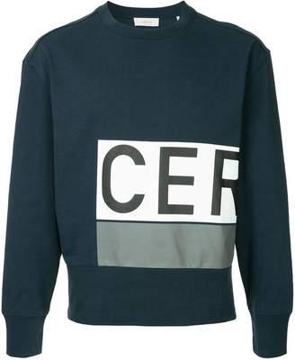 Cerruti logo patch sweatshirt