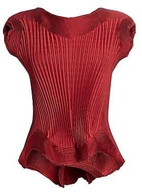 Issey Miyake Women's Pleated Petal Top