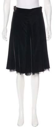 Dolce & Gabbana Velvet Knee-Length Skirt
