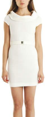L'Agence Off Shoulder Cowl Neck Dress