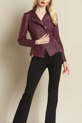 Clara Sunwoo Faux Leather Jacket