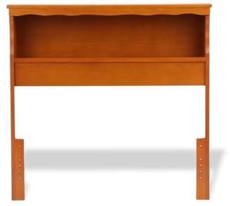 Leggett & Platt Barrister Wood Bookcase Headboard with Nightstand Top Surface and Retro Design, Bayport Maple Finish, Full