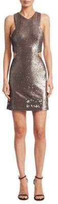 Halston Sequined Sheath Dress