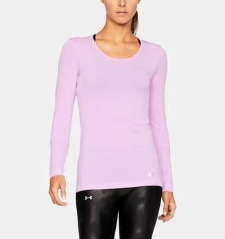 Under Armour Women's UA Threadborne Seamless Heathered Long Sleeve Shirt