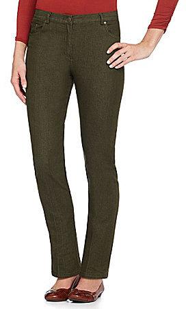 Ruby Rd. Colored Denim Slim Jeans