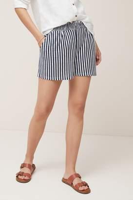 Next Womens Blue/White Striped Shorts - Blue