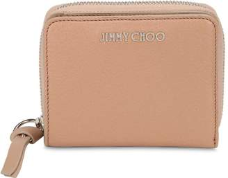 Jimmy Choo Regina Studded Leather Zip Around Wallet