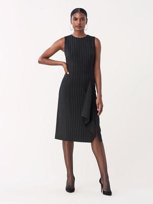 Diane von Furstenberg Elm Fitted Asymmetrical Dress