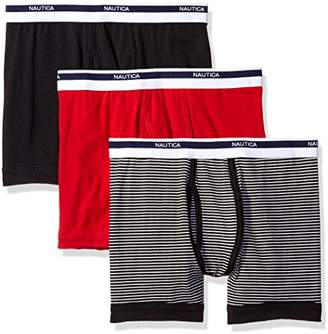 Nautica Men's Classic Underwear Cotton Stretch Boxer Brief-Multi Pack