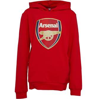 Puma Junior Boys AFC Arsenal Royal Crest Hoodie High Risk Red