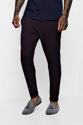 BoohooMAN Skinny Fit Textured Jacquard Cropped Jogger