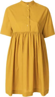 Woolrich flared short-sleeve dress