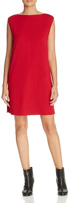 Eileen Fisher Boat Neck Knit Shift Dress $178 thestylecure.com