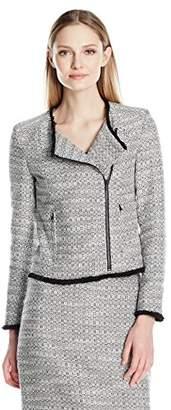 Ellen Tracy Women's Asymetrical Moto Jacket