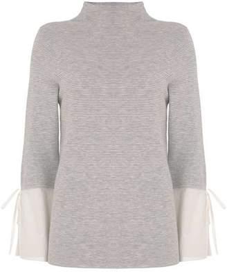 Mint Velvet Shirt Cuff Funnel Neck Knit