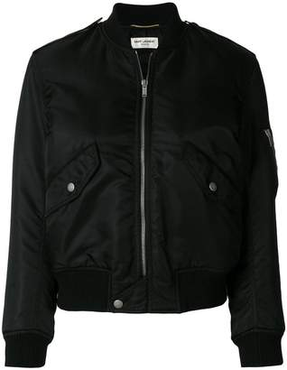 classic zipped bomber jacket