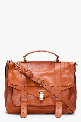 PROENZA SCHOULER PS1 Large Saddle Brown Satchel