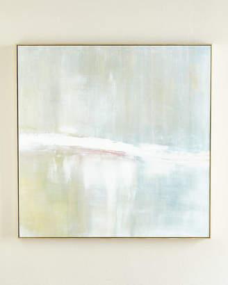 "Benson-Cobb Studios Refuge"" Square Signed, Embellished Giclee on Canvas Art"