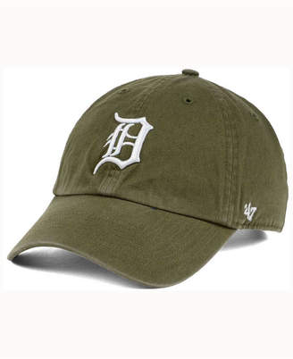 '47 Detroit Tigers Olive White Clean Up Cap