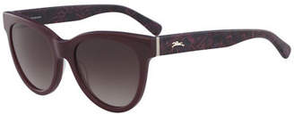 Longchamp Cat-Eye Acetate Gradient Sunglasses