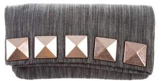 Marc Jacobs Woven Studded Clutch