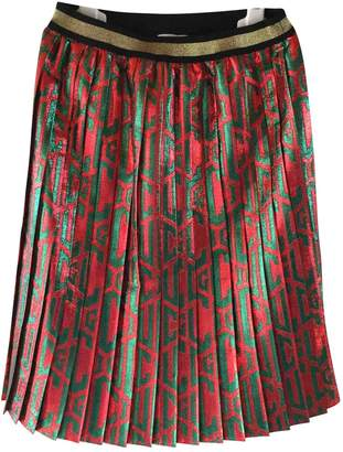 Gucci Red Polyester Skirt